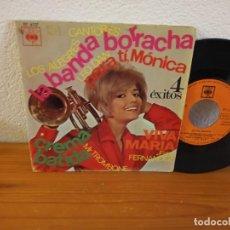 Discos de vinilo: EP 4 ÉXITOS- LA BANDA BORRACHA + 3 - CBS (1966). Lote 240698885