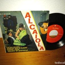 Discos de vinilo: EP AL CAIOLA - LA MALAGUEÑA + 3 - TIME (1965). Lote 240702410