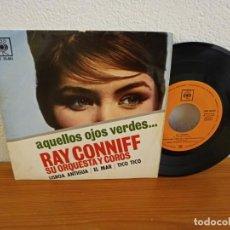 Discos de vinilo: EP RAY CONNIFF Y ORQUESTA - AQUELLOS OJOS VERDES + 3 - CBS (1962). Lote 240705090