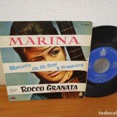 Discos de vinilo: EP ROCCO GRANATA- MARINA+ 3 - HISPAVOX (1960). Lote 240705835