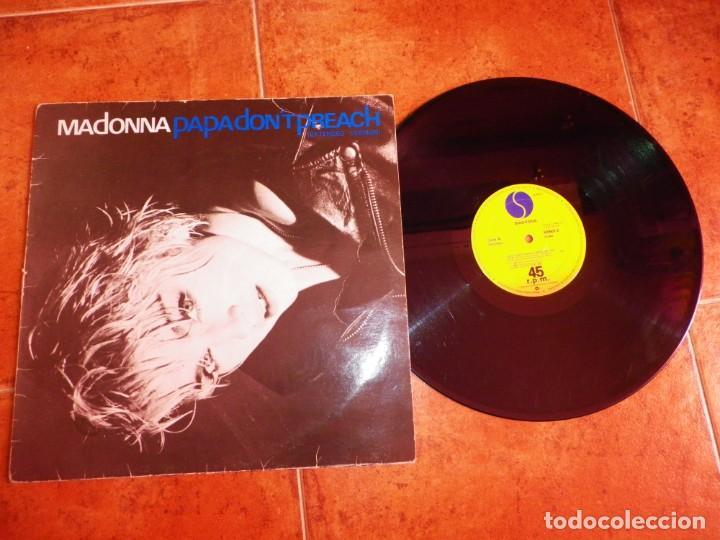 MADONNA PAPA DON'T PREACH MAXI SINGLE VINILO DEL AÑO 1986 ESPAÑA CONTIENE 3 TEMAS (Música - Discos de Vinilo - Maxi Singles - Pop - Rock - New Wave Internacional de los 80)