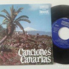 Discos de vinilo: MARIA MERIDA CONJUNTO TIPICO LOS COSTEROS - CANCIONES CANARIAS - EP ORLADOR 1970. Lote 240722695
