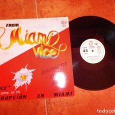 Discos de vinilo: GRANDMASTER MELLE ME VICE BANDA SONORA MIAMI VICE MAXI SINGLE VINILO PROMO 1986 ESPAÑA 2 TEMAS. Lote 240723265