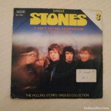 Disques de vinyle: THE ROLLING STONES - SATISFACTION / LITTLE BY LITTLE - SINGLES COLLECTION Nº 3 REEDICIÓN 1980 SPAIN. Lote 240739150