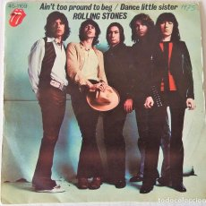 Discos de vinilo: THE ROLLING STONES - AIN´T TOO PROUND TO BEG ROLL. STONES - 1975. Lote 240775970