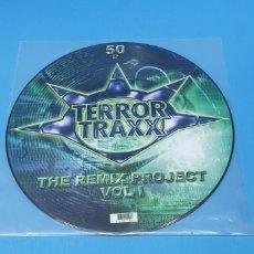 Discos de vinilo: DISCO DE VINILO - TERROR TRAXX - THE REMIX PROJECT - VOL I. Lote 240783800