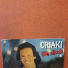 Disques de vinyle: GUY CRIAKI. LOLA.. Lote 240785700