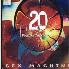 Discos de vinilo: 20 FINGERS FEAT. KATRINA - SEX MACHINE - MAXI SINGLE 1995 - ED. ESPAÑA. Lote 288524633
