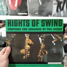 Discos de vinilo: LP AUTOGRAFIADO!! (VER FOTO) PHIL WOODS RIGHTS OF SWING VGVG+/VG++. Lote 240824440