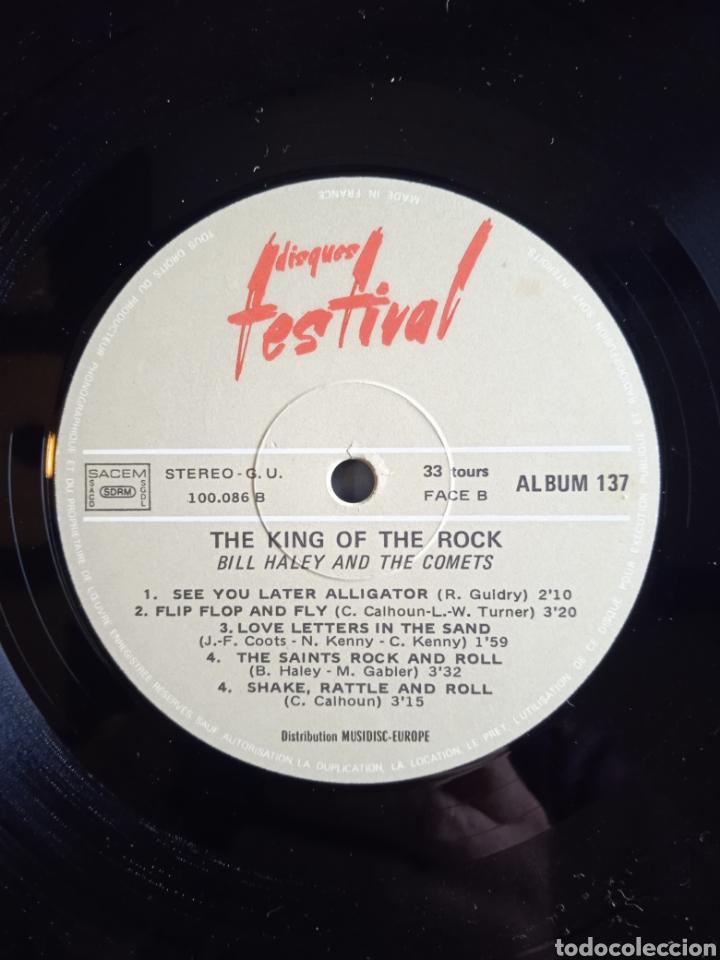 Discos de vinilo: Bill Haley And The Comets – The King Of Rock, Disques Festival – Album 137, 2 x Vinilo. France. - Foto 7 - 240825350
