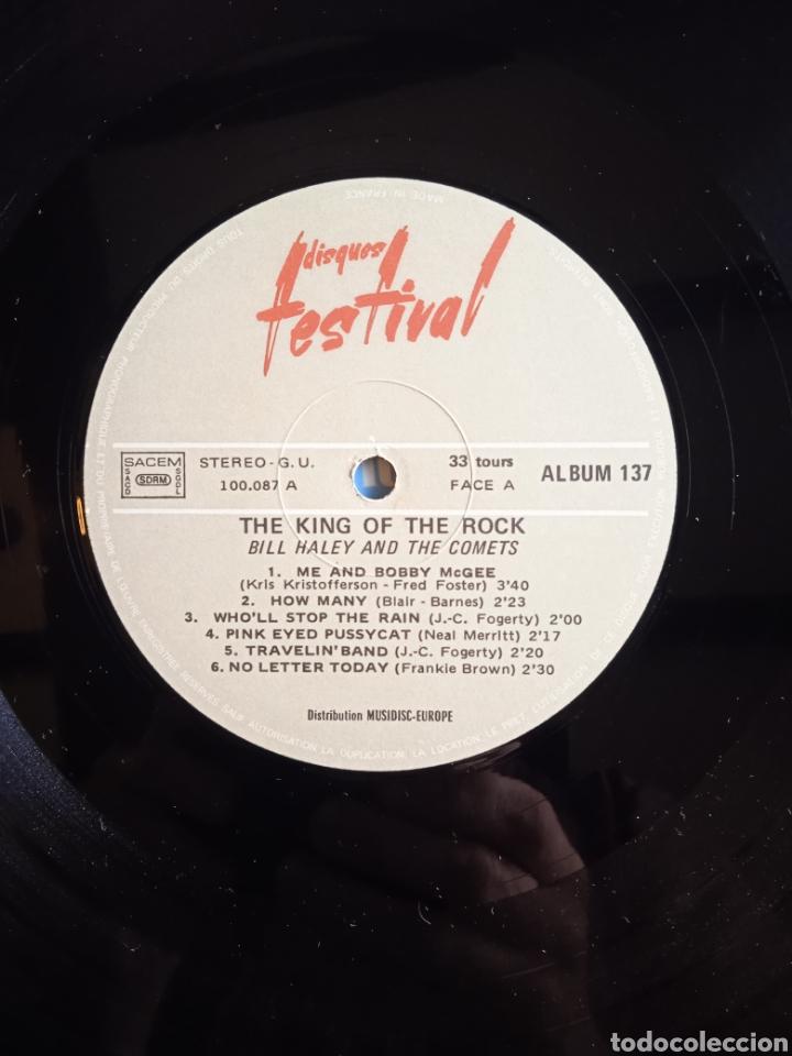 Discos de vinilo: Bill Haley And The Comets – The King Of Rock, Disques Festival – Album 137, 2 x Vinilo. France. - Foto 8 - 240825350