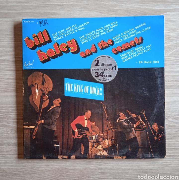 BILL HALEY AND THE COMETS – THE KING OF ROCK, DISQUES FESTIVAL – ALBUM 137, 2 X VINILO. FRANCE. (Música - Discos - LP Vinilo - Rock & Roll)