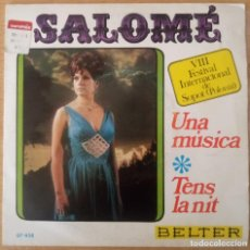 Discos de vinilo: SALOMÉ - VIII FESTIVAL INTERNACIONAL DE SOPOT - POLONIA - UNA MÚSICA - TENS LA NIT. Lote 240837185