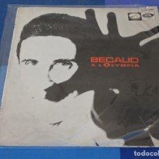 Discos de vinilo: EXPRO LP GILBERT BECAUD OLYMPIA ESPAÑA 1966 1 PICO TAPA ROTO VINILO MUY BIEN. Lote 240857335