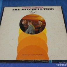Discos de vinilo: EXPRO LP USA CIRCA 1963 CHAD MITCHELL TRIO SEÑALES EVIDENTES USO SOBRELLEVABLES AUN PRECIOSO. Lote 240867475