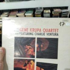 Discos de vinilo: LP THE GREAT NEW GENE KRUPA QUARTET FEATURING CHARLIE VENTURA ORIG USA VG+ MUY NUEVO. Lote 240869055