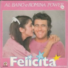 Discos de vinilo: 45 GIRI ALBANO & ROMINA POWER FELICITA' /ARRIVERDERCI A BAHIA SANREMO 82 BABY RECORDS. Lote 240893205