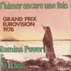 Discos de vinilo: 45 GIRI ALBANO & ROMINA POWER T'AIMER ENCORE UNE FOIS /VERSION ITALIENNE ET FRANÇAISE CARRERE FRAN. Lote 240896240
