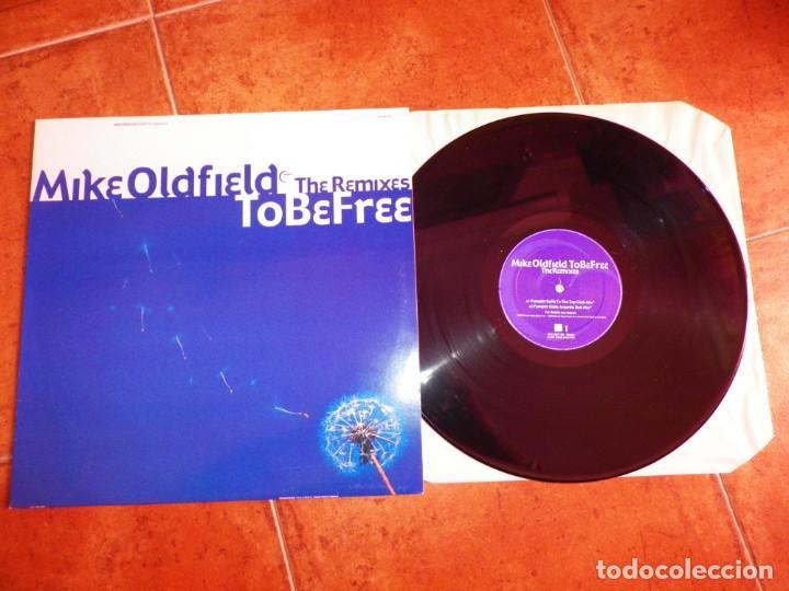 MIKE OLDFIELD TO BE FREE THE REMIXES PUMPIN' DOLLS MAXI SINGLE VINILO DEL AÑO 2002 ESPAÑA 4 TEMAS (Música - Discos de Vinilo - Maxi Singles - Pop - Rock - New Wave Internacional de los 80)