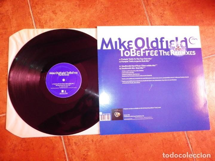 Discos de vinilo: MIKE OLDFIELD To be free THE REMIXES PUMPIN DOLLS MAXI SINGLE VINILO DEL AÑO 2002 ESPAÑA 4 TEMAS - Foto 2 - 240915520