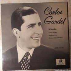"""Discos de vinilo: CARLOS GARDEL DSOE 16191 ODEÓN 1958 7"""" E.P.. Lote 240931205"""