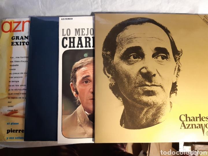 4 LPS DE CARLES AZNAVOUR (Música - Discos - LP Vinilo - Canción Francesa e Italiana)