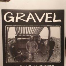 Discos de vinilo: GRAVEL, NO STONE UNTURNED, LP 1993. ESTRUS RECORDS.. Lote 240946680
