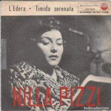 Discos de vinilo: 45 GIRI NILLA PIZZI TIMIDA SERENATA /L'EDERA RCA ITALIANA ITALY SANREMO 1958 45 N 0650. Lote 240984905