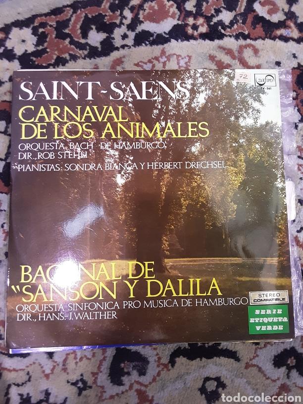 SAINT SAENS: CARNAVAL DE LOS ANIMALES / BACANAL DE SANSON Y DALILA (Música - Discos de Vinilo - Maxi Singles - Clásica, Ópera, Zarzuela y Marchas)