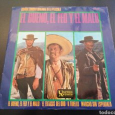 Disques de vinyle: EL BUENO, EL FEO Y EL MALO - BANDA SONORA DE LA PELÍCULA - SINGLE. Lote 241015255