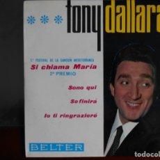 Discos de vinilo: TONY DALLARA 1966. Lote 241019270