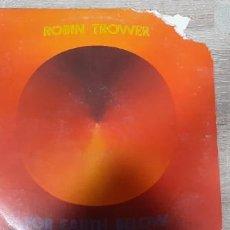 Discos de vinilo: ROBIN TROWER FOR EARTH BELOW PORTADA ROTA ,VINILO BIEN. Lote 241022930