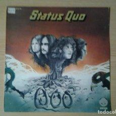 Discos de vinilo: STATUS QUO -QUO- LP VERTIGO 1974 ED. ESPAÑOLA 63 60 106 MUY BUENAS CONDICIONES.. Lote 241030690