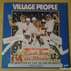 Discos de vinilo: VILLAGE PEOPLE -CAN'T STOP THE MUSIC - LP BARCLAY 1980 ED. FRANCESA 598 511 GATEFOLD SLEEVE MUY BUEN. Lote 241034395