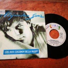 Discos de vinilo: ALEJANDRO SANZ LOS DOS COGIDOS DE LA MANO SINGLE VINILO SINGLE VINILO PROMO 1991 MIGUEL ANGEL ARENAS. Lote 241034840