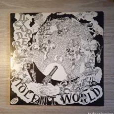 Discos de vinilo: DISORDER – VIOLENT WORLD, DISORDER RECORDS – AARGH 4, LP, 1989. UK.. Lote 241040555