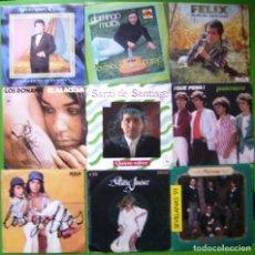 Discos de vinilo: LOTE 9 SINGLES (ALEJANDRO CONDE, DOMINGO MATOS, LOS DOÑANA, PALMERA, SANTI DE SANTIAGO,MARIA JIMENEZ. Lote 241114275