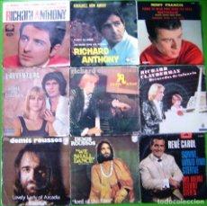 Discos de vinilo: LOTE 9 SINGLES (RICHARD ANTHONY, RICHARD CLAYDERMAN, STONE ET CHARDEN, DEMIS ROUSSOS, REMI FRANCIS... Lote 241115860