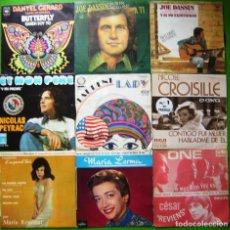 Discos de vinilo: LOTE 9 SINGLES FRANCESES (DANYEL GERARRD, JOE DASSIN, MARIA REMUSAT, NICOLAS PEYRAC, MARIA LERMA...). Lote 241116960