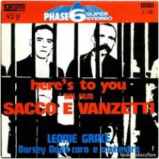 Discos de vinilo: LEONIE GRACE, DORSEY DODD CORO E ORCHESTRA - SG SPAIN 1971 - VEDETTE/PALOBAL S-106. Lote 241117990
