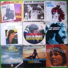 Discos de vinilo: LOTE 9 SINGLES ITALIANOS (BINO, ADRIANO CELENTANO, SANDRO GIACOBBE, TOTO CUTUGNO, CATERINA CASELLII.. Lote 241118640