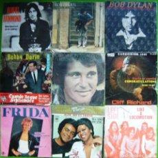 Discos de vinilo: LOTE 9 SINGLES (BOBBY DARIN, BOB DYLAN, FRIDA (ABBA), LEFT SIDE, BOBBY VINTON, ALBERT HAMMOND.... Lote 241120000