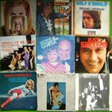 Discos de vinilo: LOTE 9 SINGLES (LYNN ANDERSON, MALCOLM ROBERTS, NANCY SINATRA, SHIRLEY BASSEY, SNIFF 'N' THE TEARS,. Lote 241120905