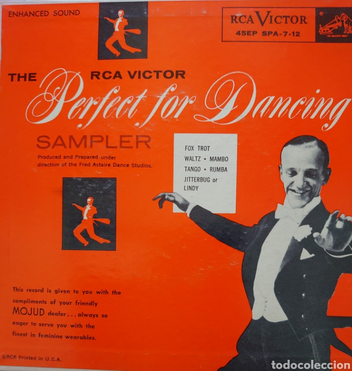 Discos de vinilo: Perfect for Dancing Ep sello RCA VÍCTOR editado en USA Fred Astaire... - Foto 1 - 241130645