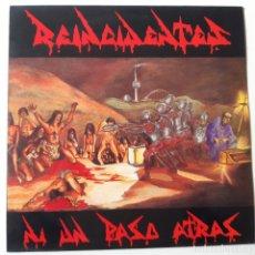 Discos de vinilo: REINCIDENTES - NI UN PASO ATRAS - LP 1991 + ENCARTE - VINILO EXC. ESTADO.. Lote 241173405