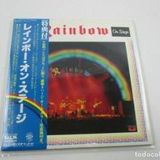 Discos de vinilo: VINILO EDICIÓN JAPONESA DEL DOBLE LP DE RAINBOW ON STAGE. Lote 241176415