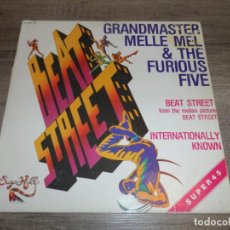 Discos de vinilo: GRANDMASTER MELLE MEL & THE FURIOUS FIVE - BEAT STREET. Lote 241193390