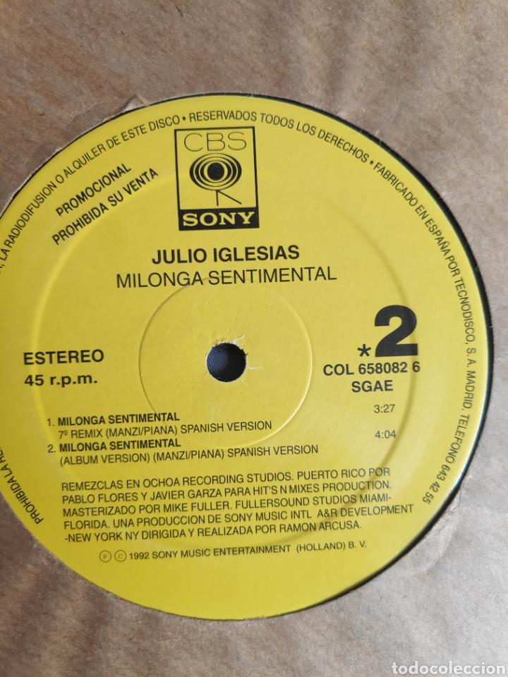 Discos de vinilo: Vinilo maxi single promo - Julio Iglesias - Milonga sentimental - Foto 5 - 241196465