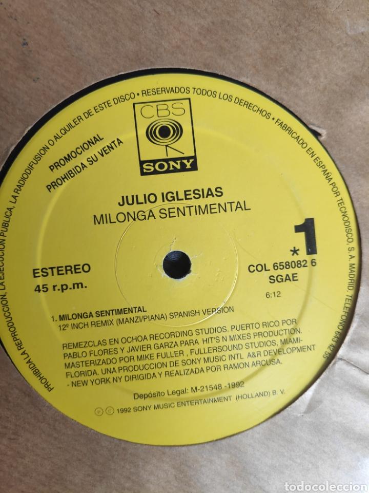 VINILO MAXI SINGLE PROMO - JULIO IGLESIAS - MILONGA SENTIMENTAL (Música - Discos de Vinilo - Maxi Singles - Solistas Españoles de los 70 a la actualidad)