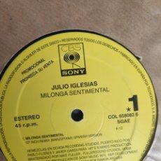 Discos de vinilo: VINILO MAXI SINGLE PROMO - JULIO IGLESIAS - MILONGA SENTIMENTAL. Lote 241196465